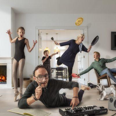 Family art. Composite van jullie gezin in geheel eigenwijze sfeer